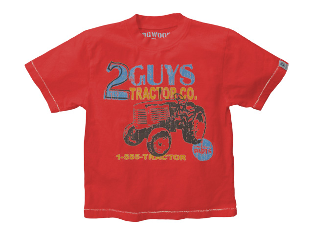Two Guys Tractor Red