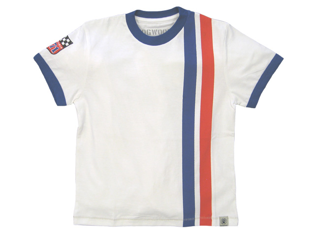 Retro Racing Stripes White