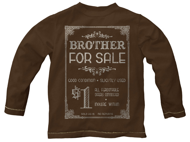 Brother For Sale Retro - Cocoa