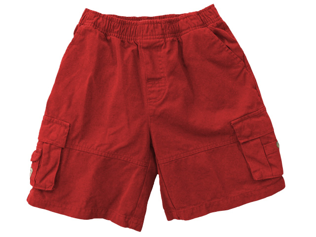 Twill Cargo Short Red