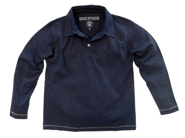 Long Sleeve Polo Navy