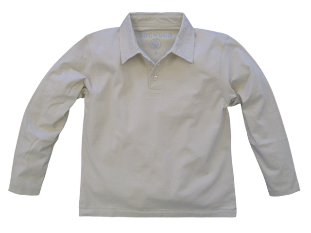Long Sleeve Polo Stone
