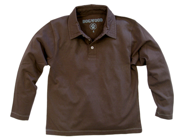Long Sleeve Polo Cocoa