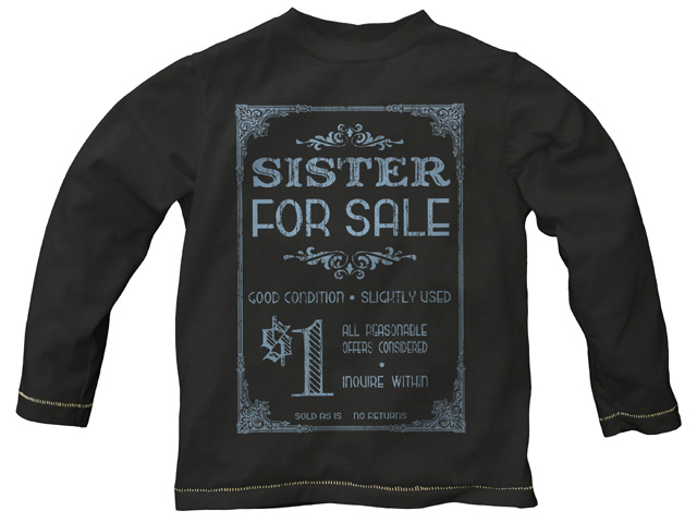Sister for Sale Retro Black