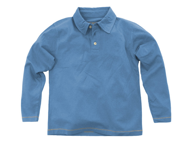 Long Sleeve Polo Chambray